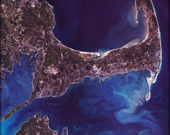 Poster, Many Sizes Available; Cape Cod Mass Landsat 7