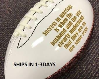 Ring Bearer Gift, Engraved Football, Youth Football, Groomsmen, Engraved Gift, Christmas Gift, Sports, Keepsake