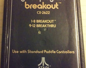 BREAKOUT video game cartridge for the Atari 2600 game system console vintage 1979