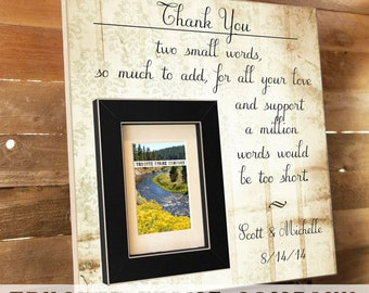 Parents of the Groom Gift, Personalized Picture Frame, Parents Thank You, You Raised With Love, Father of the Bride Custom Frames 16 x 16