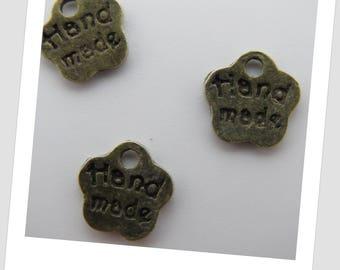 50 bronze Handmade charms, 8mm