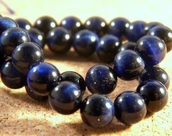 beautiful 5 6 mm - PP110 Midnight blue tiger eye bead