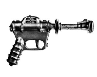 RAY GUN - Space gun - Science fiction - Sci fi retro - Toy gun - Sci fi gun space - Buck Rogers toys - Space art - Metal gun