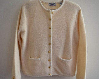 SALE Vintage Lord & Taylor Wool Cardigan Sweater