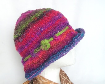Simple Knit Hat Knitting Pattern Easy Knit Hat Pattern, instant download file