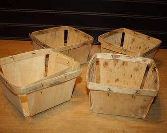Vintage Berry Containers - set of 4 - item #2847-7