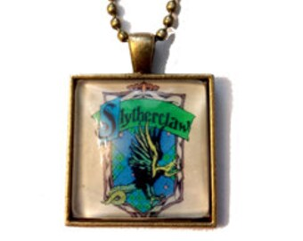 Slytherclaw Cross-House Crest Pendant Necklace