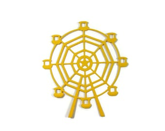 Extra Large Ferris Wheel Paper Cut Out set of 4