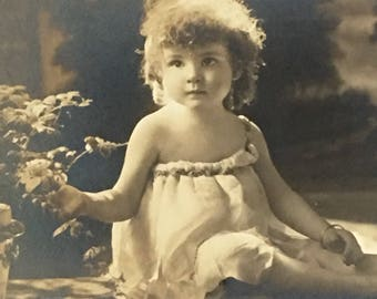 Donald Cameron Beidler Photo Sweetest Curls Angel Baby Vintage Photograph