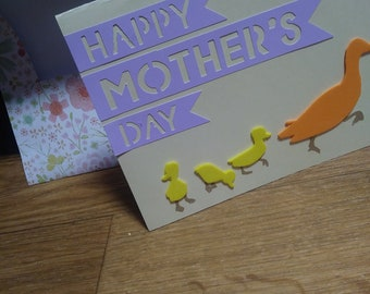 Mothers day duckling card
