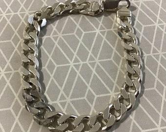 8 inch Cuban curb sterling 925 silver bracelet