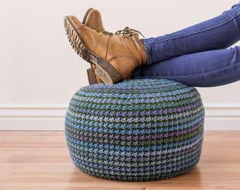 Crochet Pouf Pattern, crochet pillow pattern, crochet pattern, floor pillow, pillow pattern, pouf pattern, bean bag chair, crochet ottoman