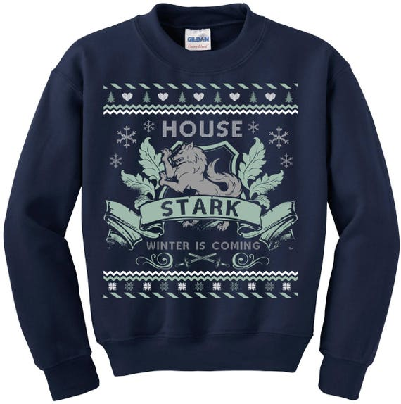 Game of Thrones. Ugly Christmas Sweater. Ugly Sweater Contest. Game of  Thrones Sweatshirt. Ugly Sweater House of Stark. Winter is Coming