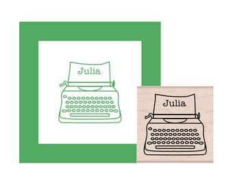 Typewriter Personalized Rubber Stamp