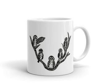 Owls Tea Mug - Coffee Owls - Ceramic Mug