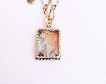 Ocean Coral Watercolor Necklace hand painted illustration