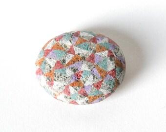 Multi-color Facet Stone