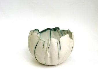 hand built porcelain bowl  ...   balloon bowl ...  matte