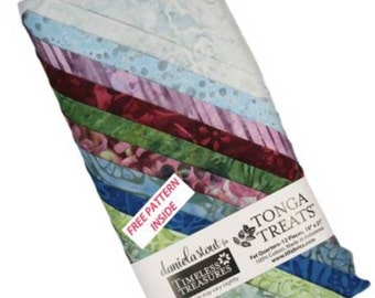 Zen Treat Quarter, 12 Fat Quarters, Tonga Treats, Timeless Treasures,