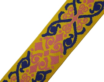 Aztec Printed Knitted Rubber Elastic Knitted Ribbon Trim