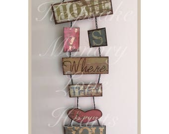 Home quote gift wall hanging vintage metal sign