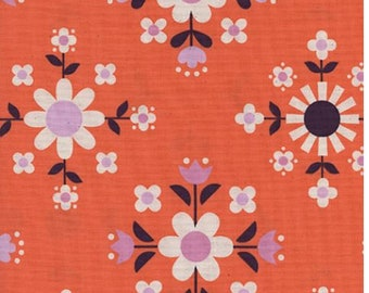 Cotton + Steel- Florametry in sweet orange- Welsummer- Kim Kight