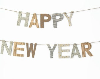 Happy New Year Banner ~ Happy Holidays Banner ~ Holiday Decor ~ NEW YEARS Collection