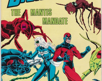 Vintage Dragonfly Comic Book Number 4 1986 Americomics Comics - Superheroine - Nancy Arazello - Ken Burton - John Gallegher - Zzara