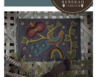 A Bird's Tail - NEW Pattern by Rebekah Smith - Wool Applique