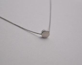 dot necklace silver necklace everyday necklace bridesmaid necklace
