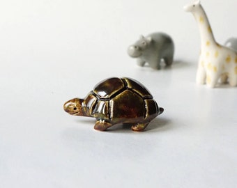Hand Shaped Ceramic Turtle Figurine