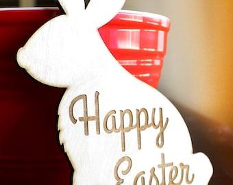Easter Rabbit Wood Trivet, Easter, Happy Easter, Easter Bunny, Easter Dinner, Bunny Rabbit, Hot plate, pot holder,  Laser Cut