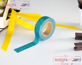 Teal Blue Glitter Sparkling Design Washi Tape Masking Tape