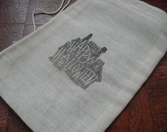 Halloween Treat Bags - 4x6 Muslin - Set of 10 -  Item 4M1540