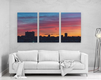 Sunset at Manhattan New York - panels art canvas print wall home decor interior design