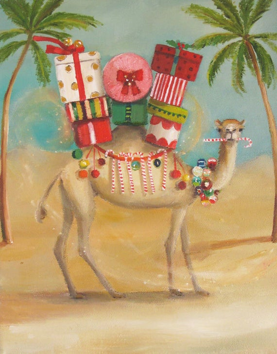The Christmas Camel Preferred A More Temperate Climate. Art Print