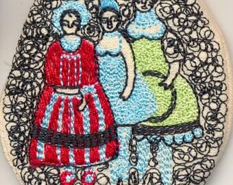 Ladies brooch - handmade one off