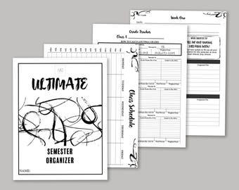 Ultimate College Semester Organizer - Digital Download