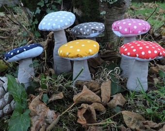 Decorative mushroom with colorful polka dots small model
