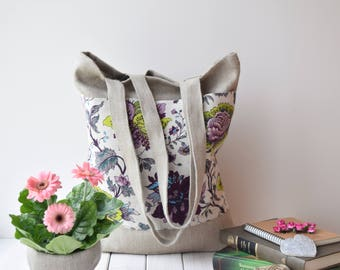 Canvas tote bag, Tote bag canvas, Shopping bag, tote bag, farmer's market bag, canvas tote, sac cabas, linen bag, sac, tote bag with pocket
