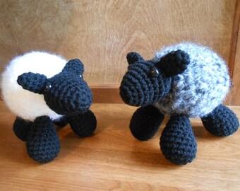 Hand Crocheted Stuffed Sheep Toy