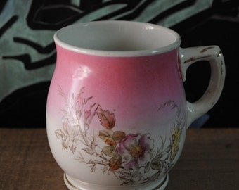 Antique Victorian Wild Rose Transferware Mug