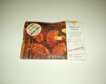 1980's Healthy Meals in Minutes RECIPES CARDS 14-count Winning Quick Recipes & Ideas (Barbecues Chicken, Brownies+) New, Sealed, Rare