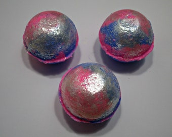 Cotton Candy Bath Bombs- Bubbly and Fizzy