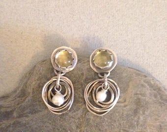 Silver Earrings - Artisan Silver Hoop Earrings