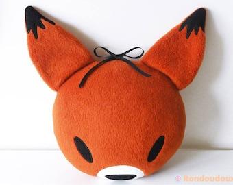 Coussin tête de renard