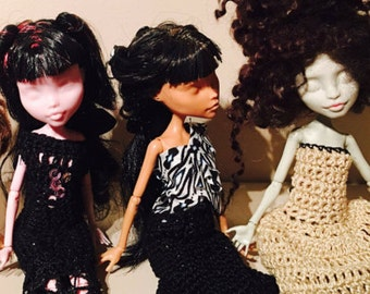 Monster High doll - Crochet Glamour Collection 3 dresses