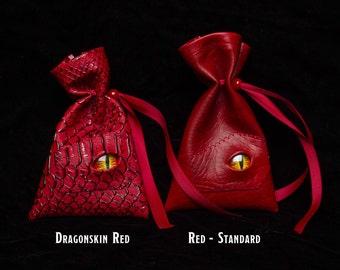 Dice bag dragon skin, D&D, Dungeons and Dragons, d20 dicebag