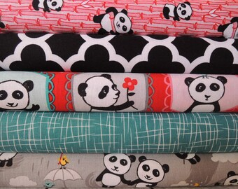 Panda Rag Quilt Kit,  Easy to Make, Personalized, Bin M, Optional Sewing Available, Personalized