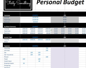 Budget Template | Weekly and BiWeekly